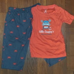 Little Snappy's Beach Patrol Carter's crab pajamas